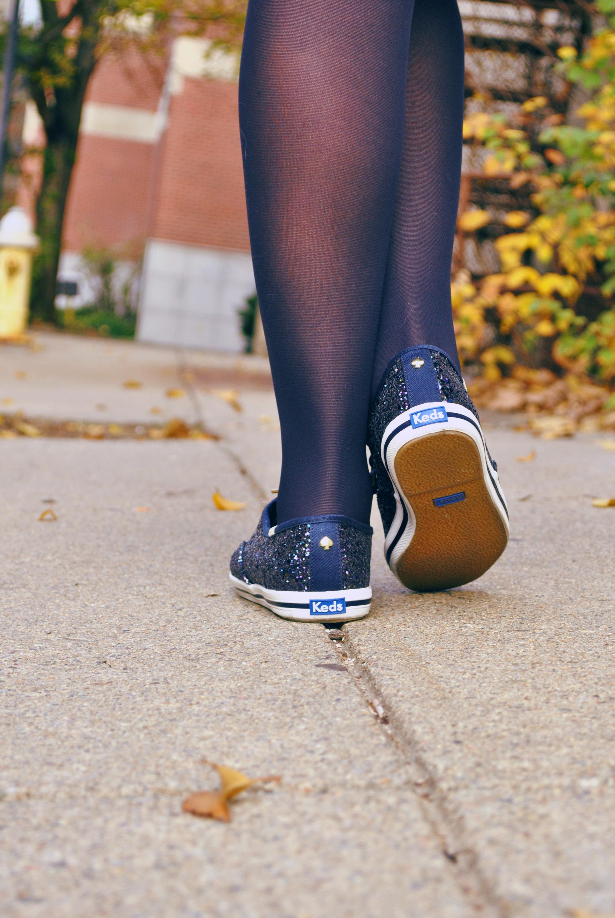 thoughtfulwish | preppy outfit // boston fashion // new england fashion // preppy // faux fur // navy dress // kate spade // primark boston // scream queens fashion // boston fashion blogger