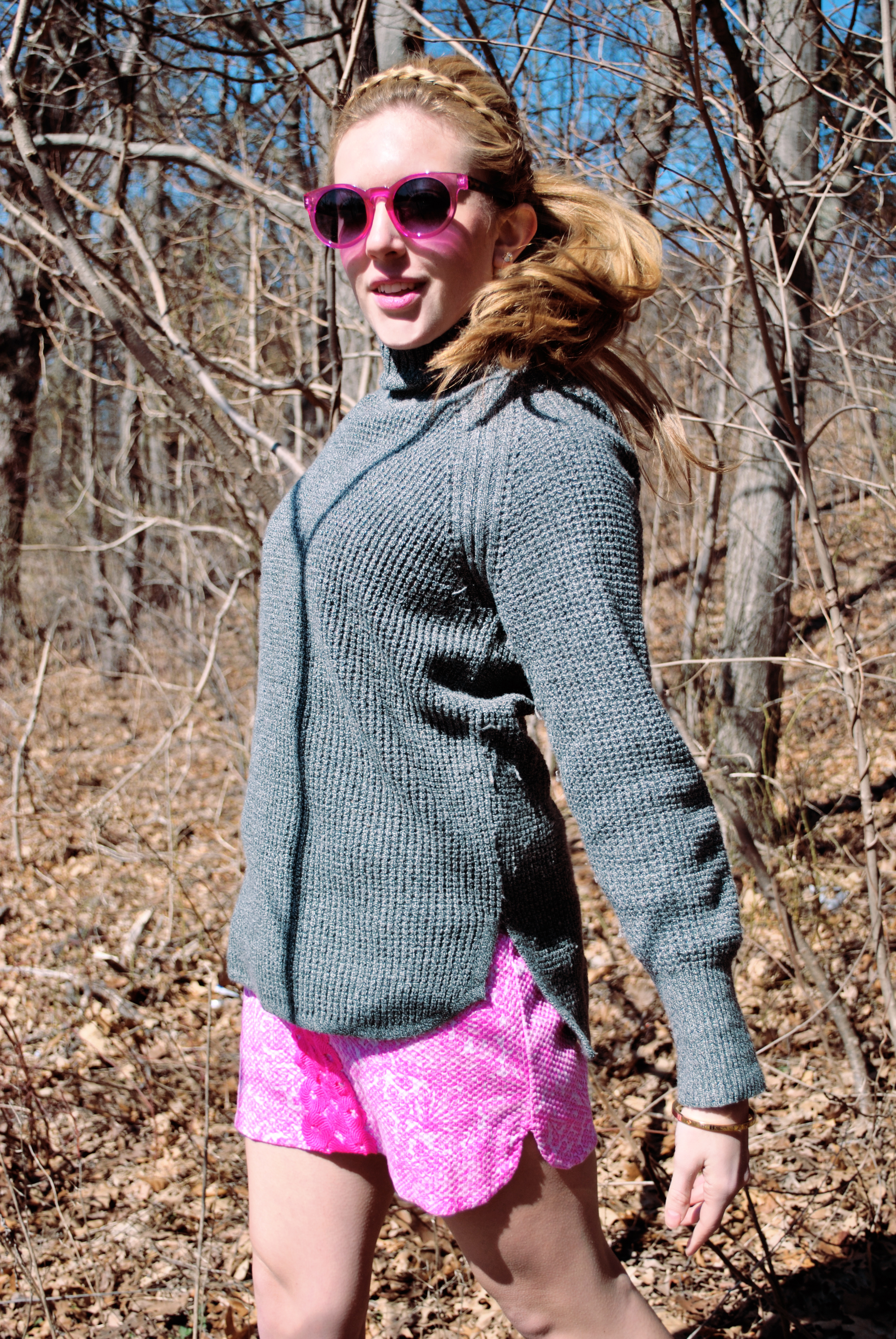 thoughtfulwish | lilly pulitzer // pink dress // spring outfit // preppy outfit // pink chucks // converse // sweater over dress // fashion blogger // boston blogger