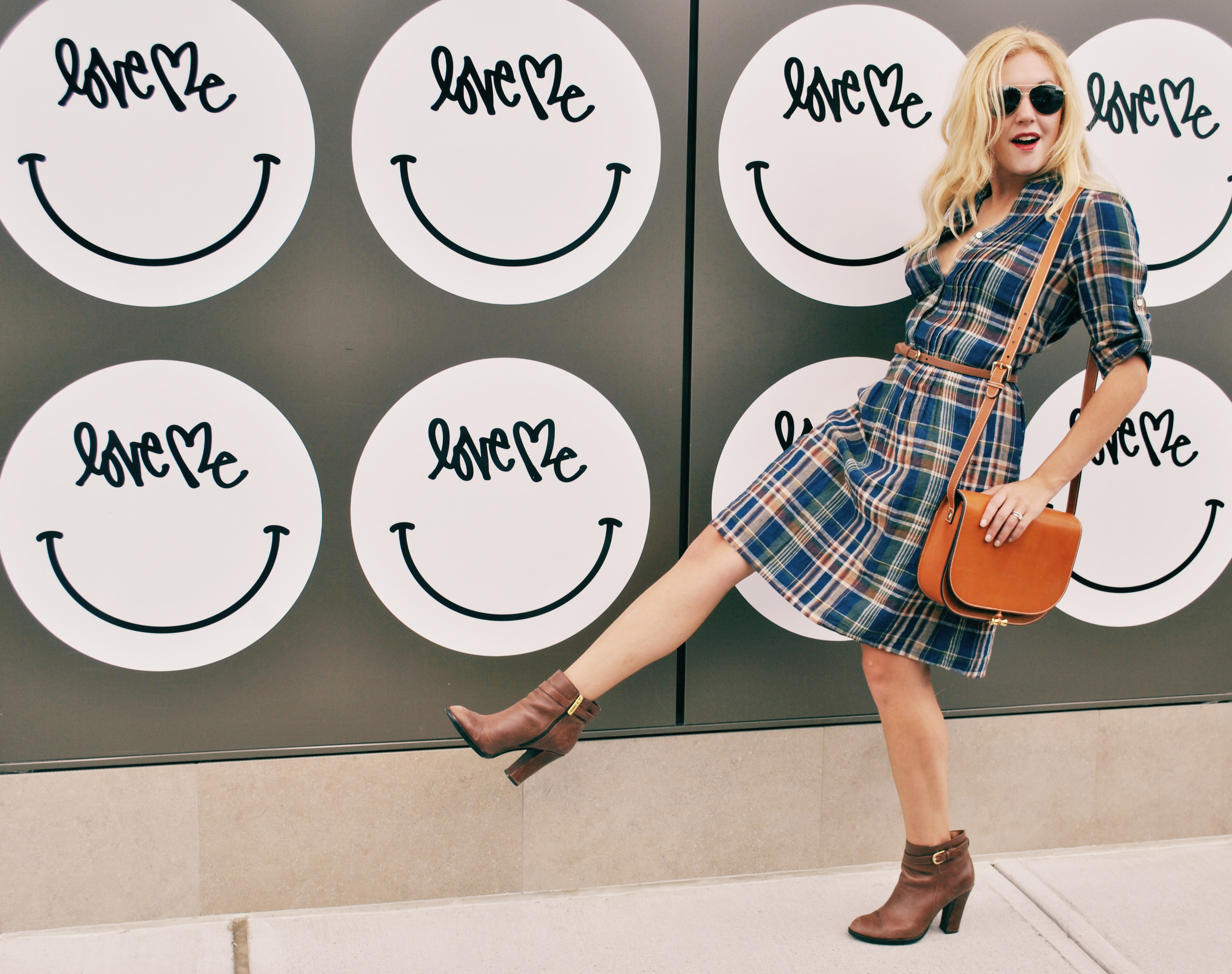 thoughtfulwish | plaid // j.mclaughlin // preppy // boston // fashion blogger // fall outfit // plaid dress // fall dress // meredith wish