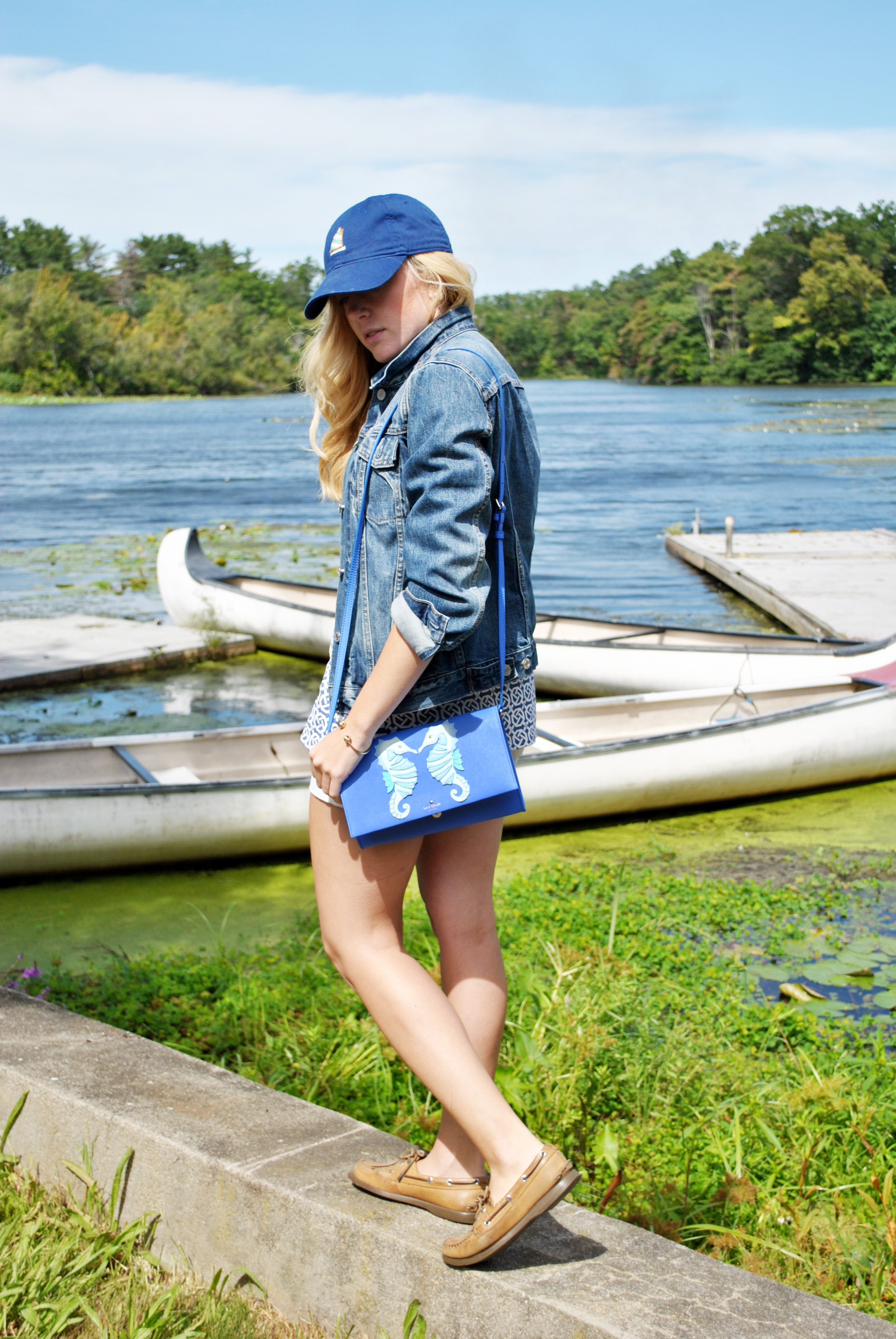 thoughtfulwish | smathers & branson // baseball cap // sailing // sailboat // fblog // fashion blogger // boston // new england fashion // j.mclaughlin // kate spade // meredith wish // boston