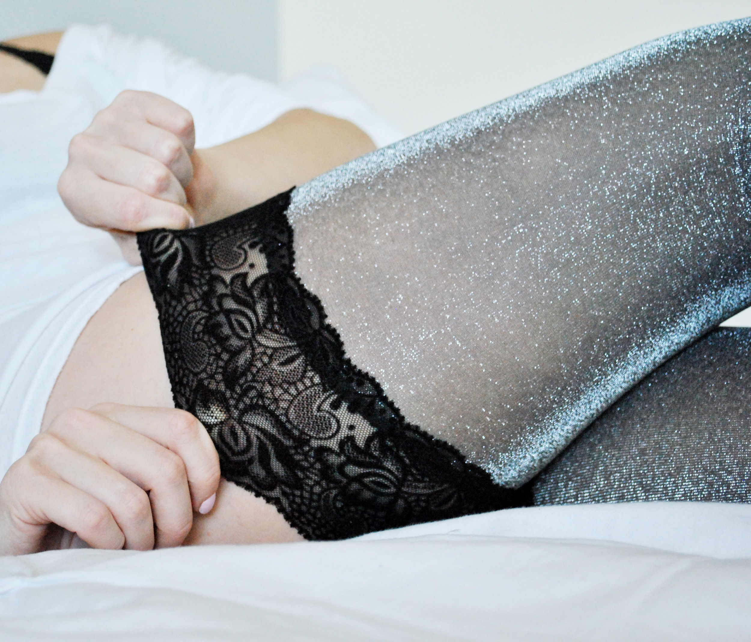 thoughtfulwish | vienne milano, stockings, thigh highs, free people, victoria secret, fashion blogger, lounge wear