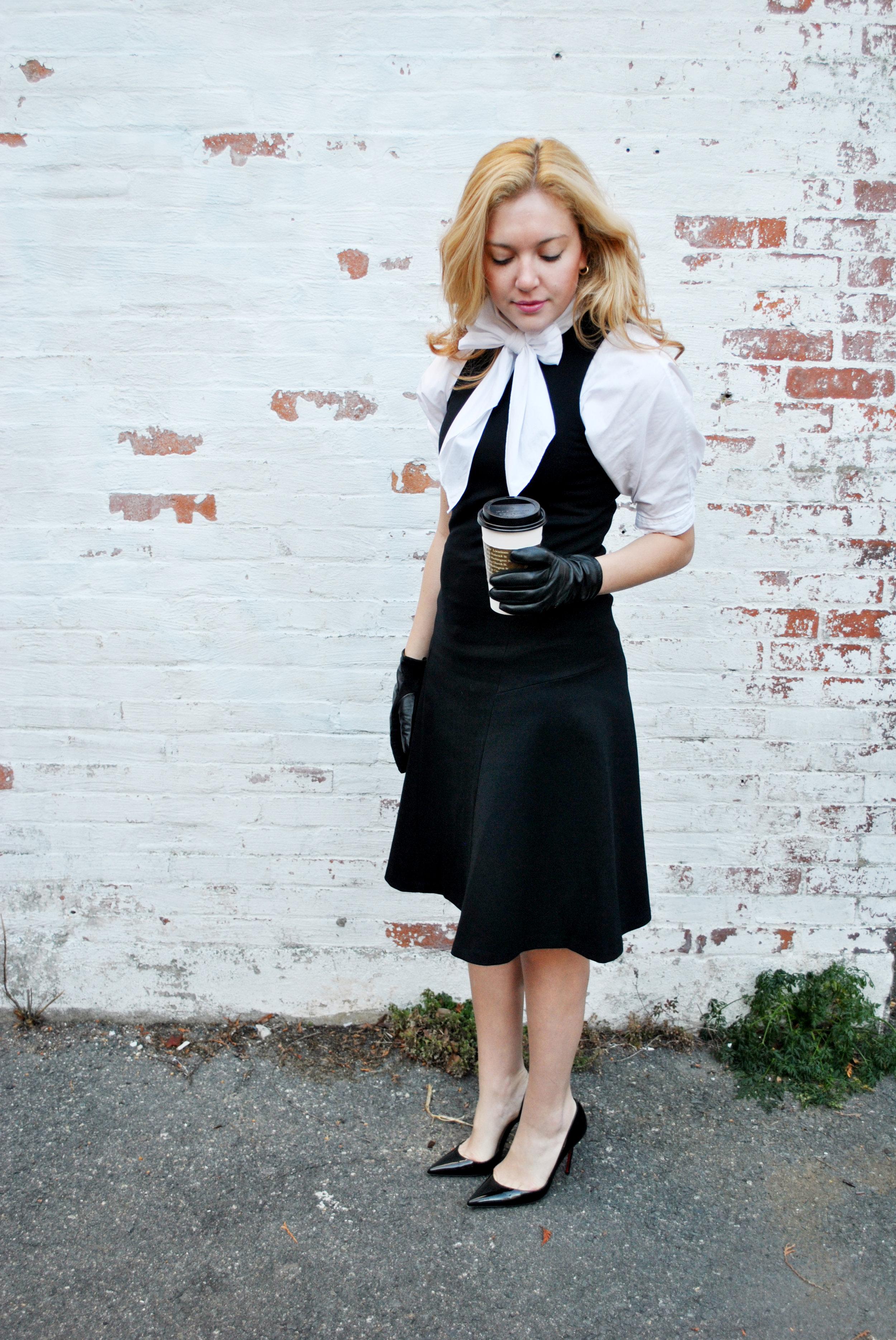thoughtfulwish | friends, ralph lauren, black and white, winter fashion, rachel green