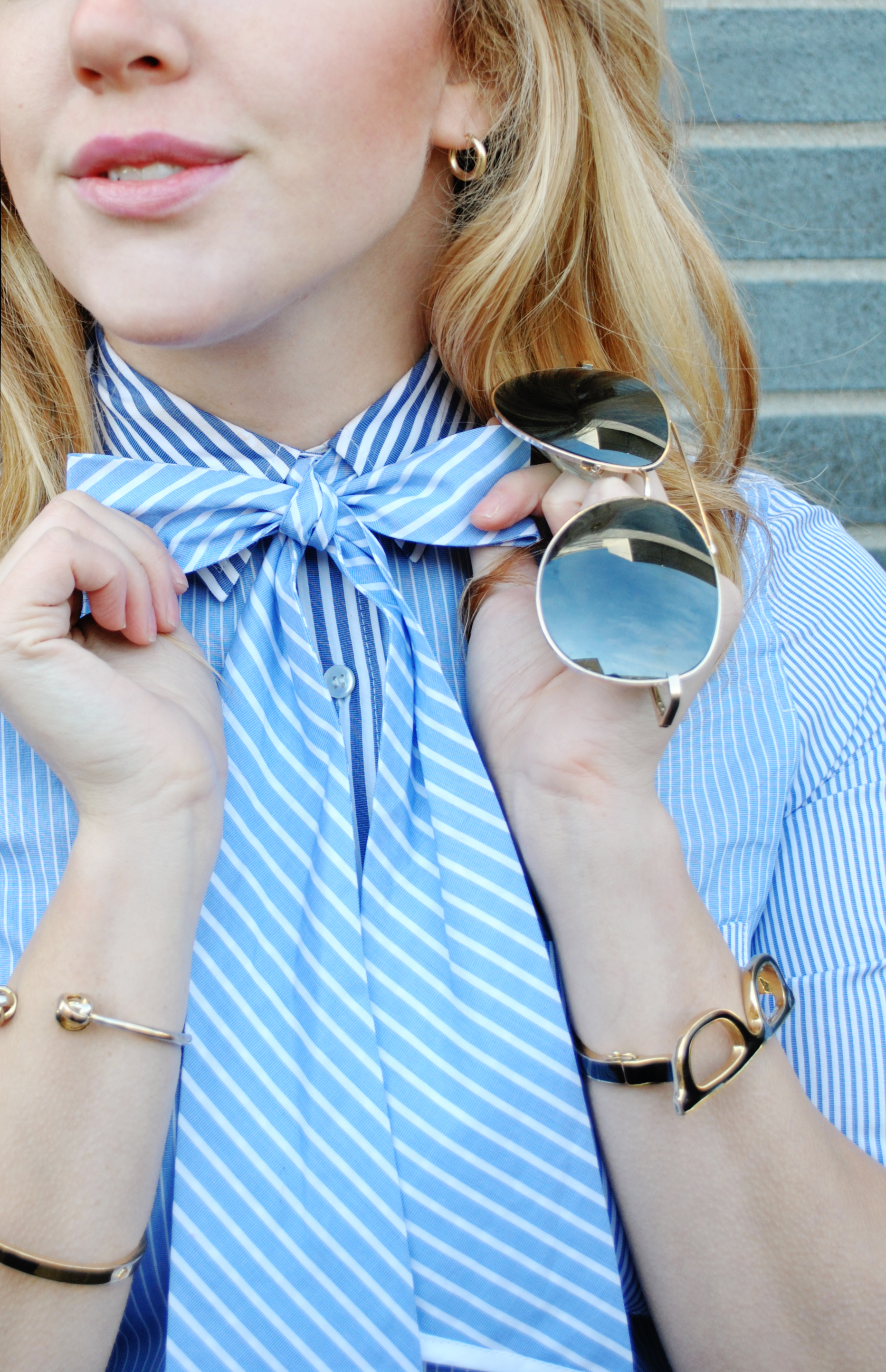 thoughtfulwish | pin stripes, j.crew, thomas mason, new england fashion, boston fashion, meredith wish, fashion blogger, kate spade