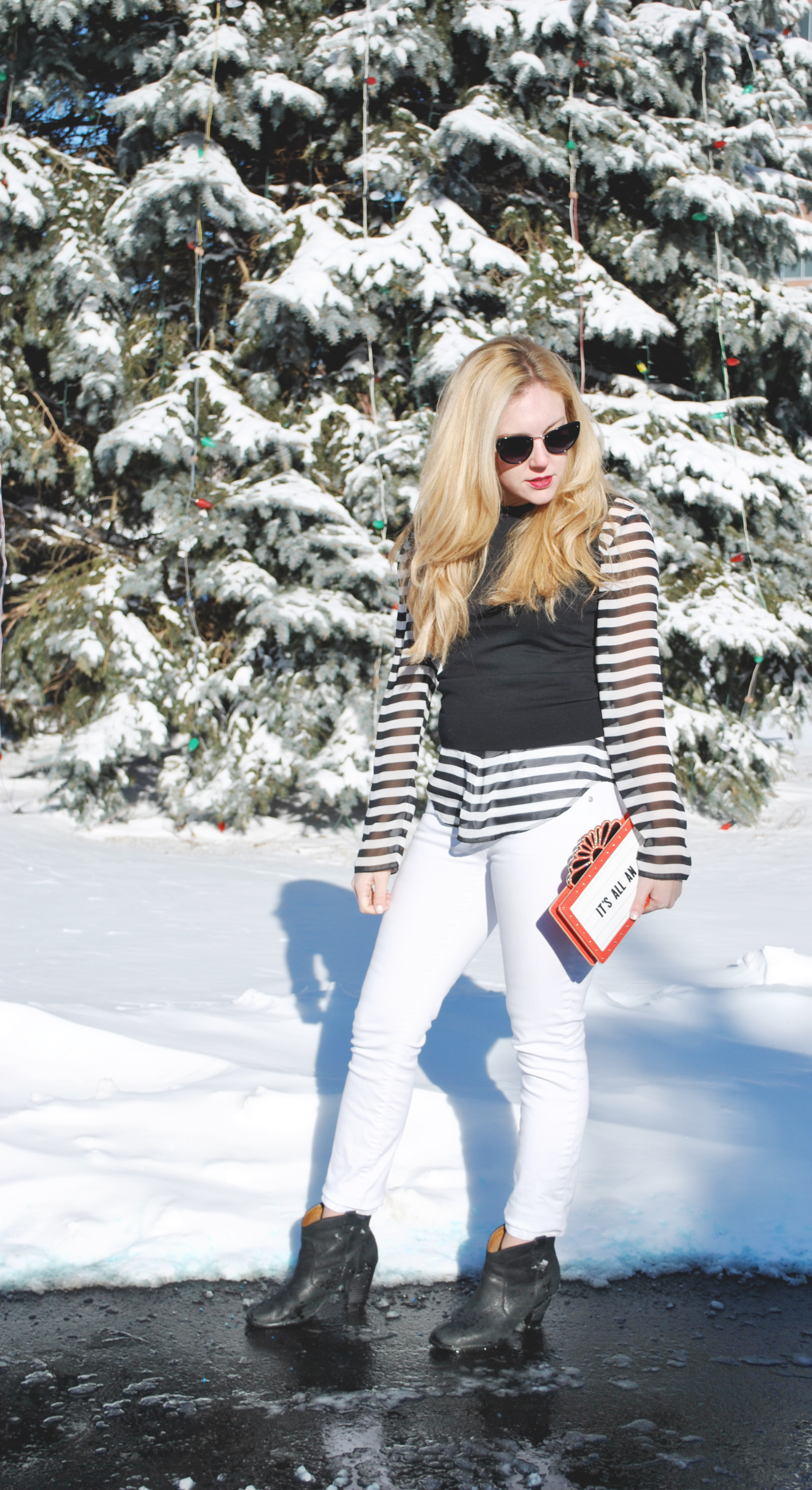 thoughtfulwish | fashion blogger, fashion, kate spade, j.crew, bosblogger, boston blogger, boston fashion, stripes, winter fashion, winter white
