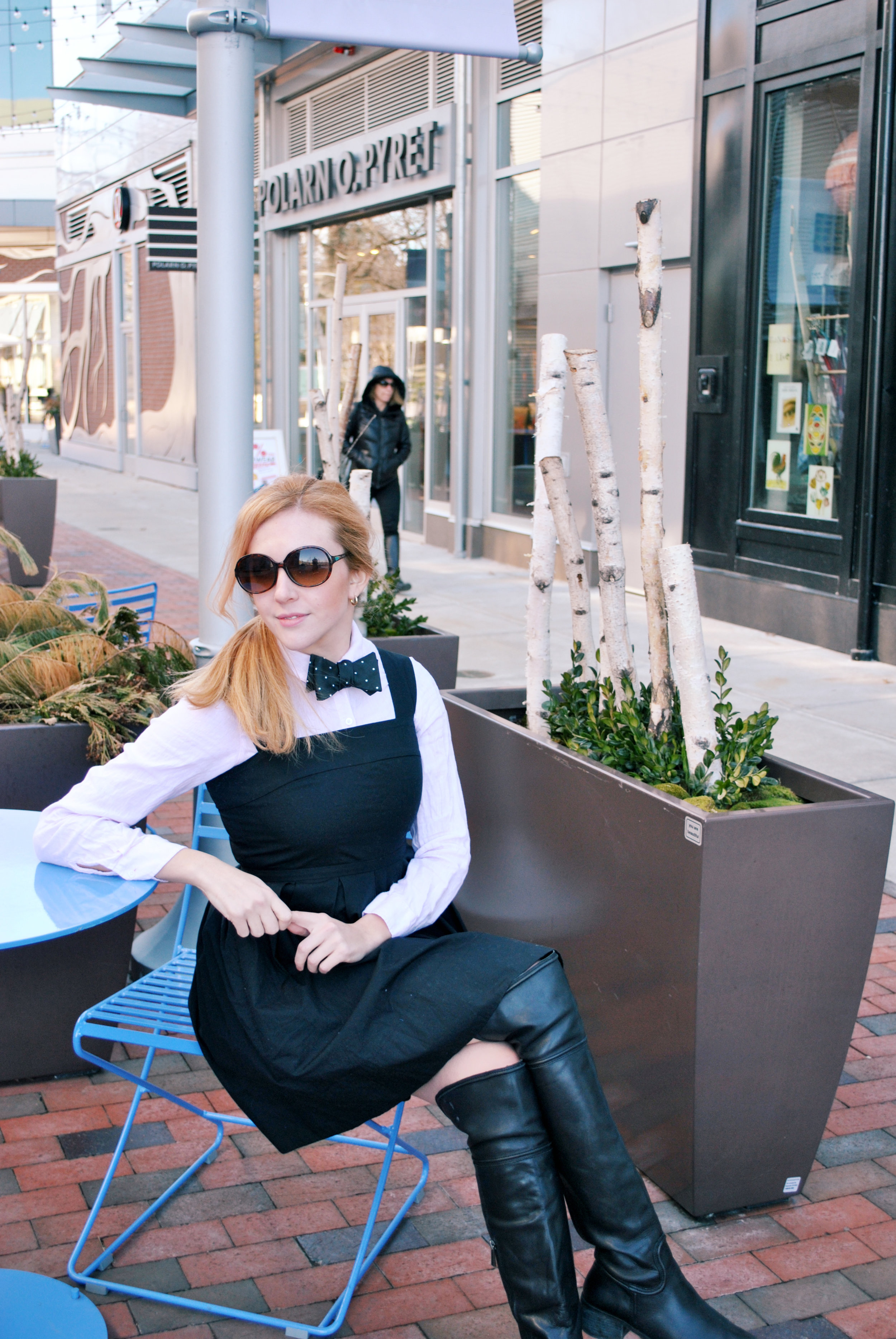 thoughtfulwish | thredup, gap, bowtie, bow tie, fashion, fashion blogger, fblog, chestnut hill, boston, bosblogger