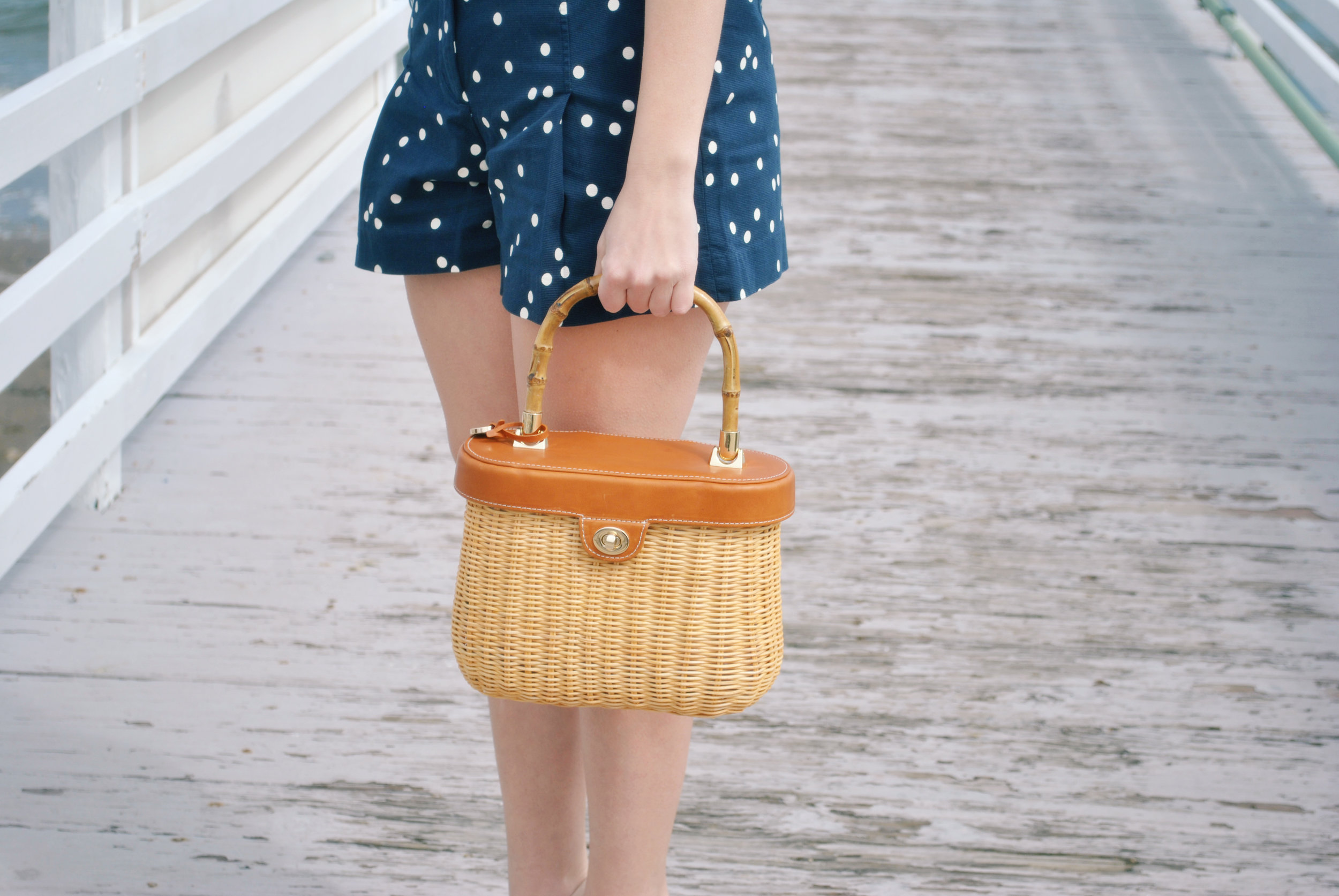 thoughtfulwish | j.crew, high-waisted shorts, polka dots, pinup, nantucket basket, j.mclaughlin, boston, bosblogger, fashion, fashion blogger, preppy, fblog