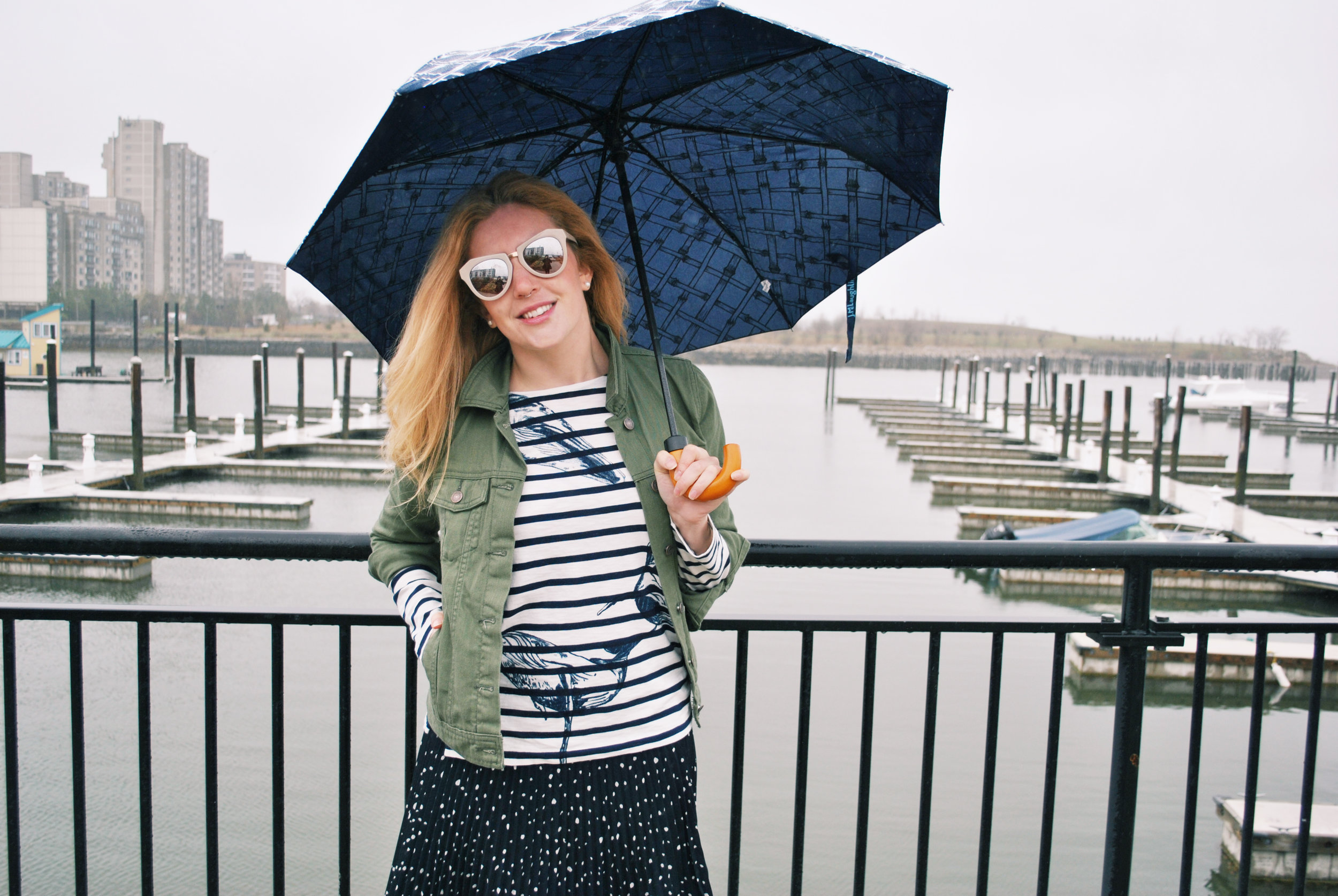 thoughtfulwish | j.crew, stripes, whales, polkadots, old navy, j.mclaughlin, nordstrom, fashion blogger, boston fashion, bosblogger, boston, olive denim jacket, army green, meredith wish