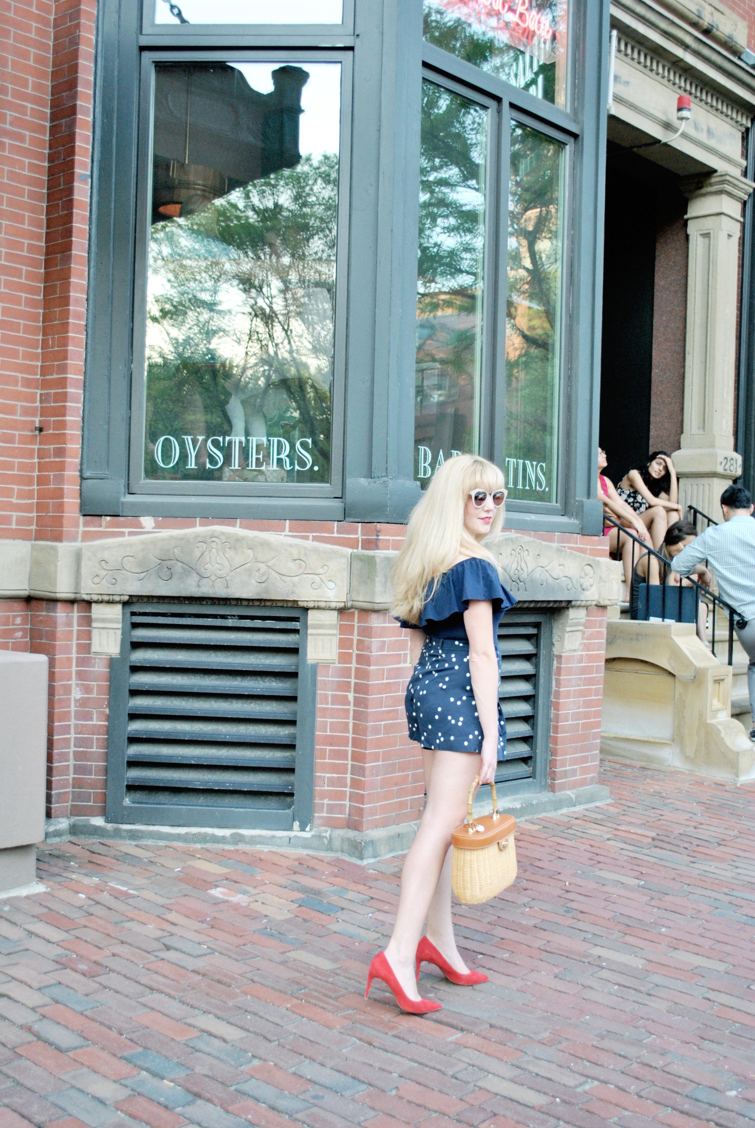 thoughtfulwish | boston, fashion, fashion blogger, boston blogger, bosblogger, summer fashion, ruffles, j.crew, summer outfit, dog, meredith wish