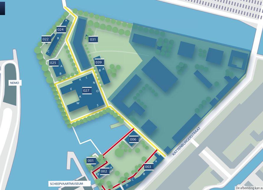 Marineterrein kaart met gebouwnummers.JPG