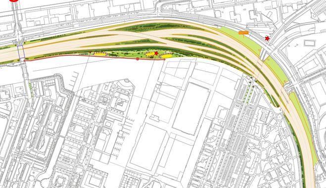 Stuk grond 60 x 300 m aan Dijksgracht-oost komt vrij voor nieuwe invulling