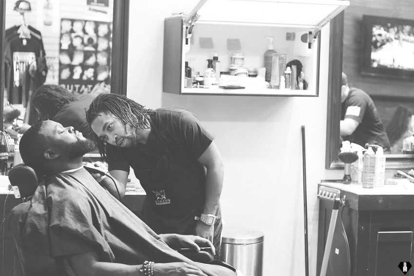 Maurice aka Mo, putting in work on one of his regulars!