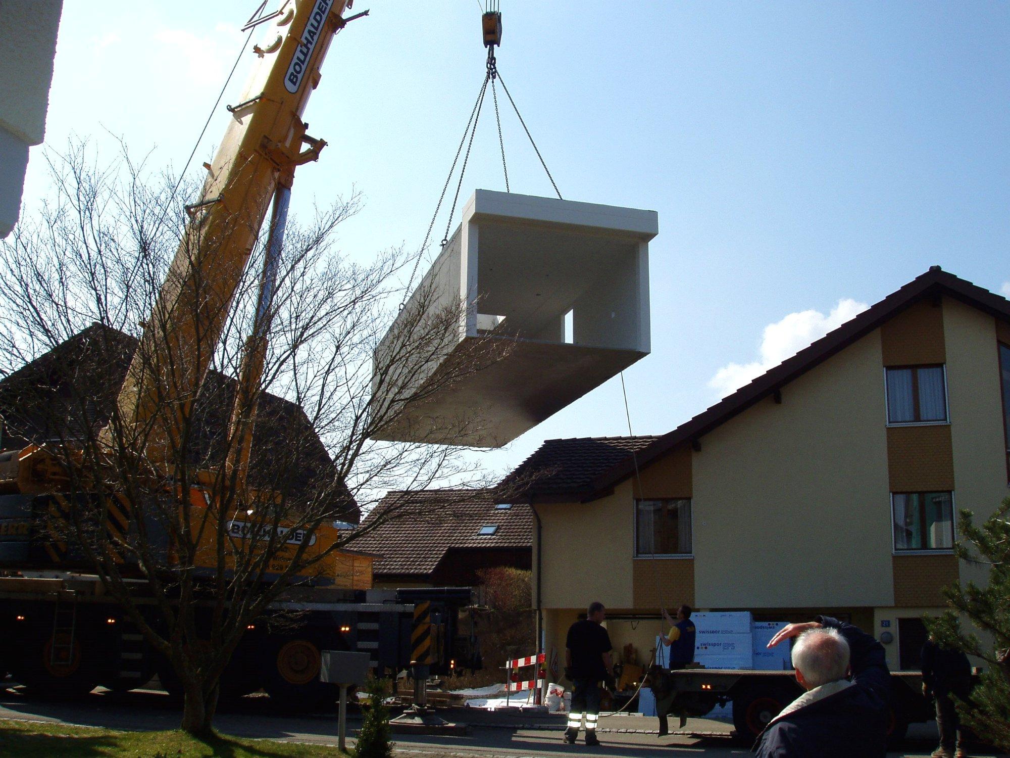 2007 wurde das Atelier an unser Haus angebaut