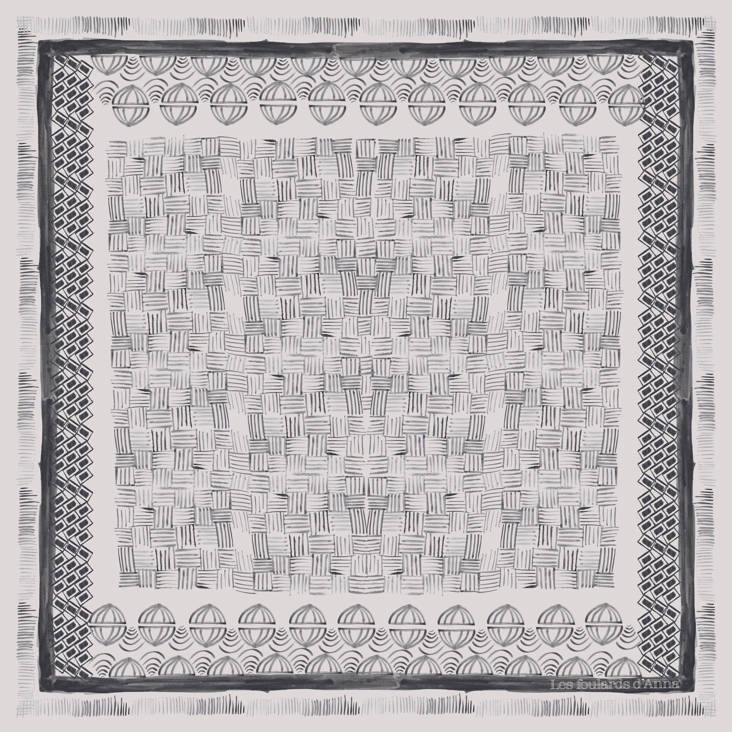 "Foulard "" Isia "". 90X90cm  100% twill de soie  Fabrication française  Série limitée ."