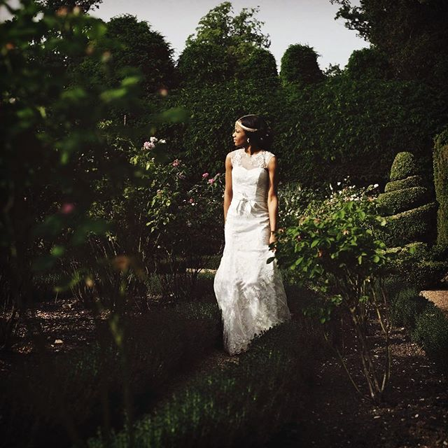 A walk in the gardens of #kelmarshhall with Tamara and #fujixpro1 #fujifilm_xseries #weddingphotographer  #garden #weddingdress