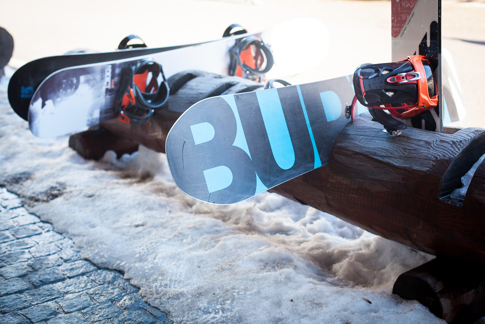 Burton snowboards at Verbier, Switzerland