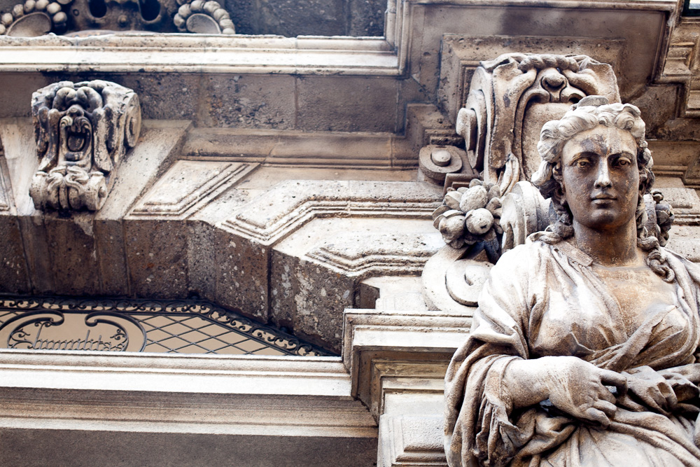 classical architecture in Milan, Italy