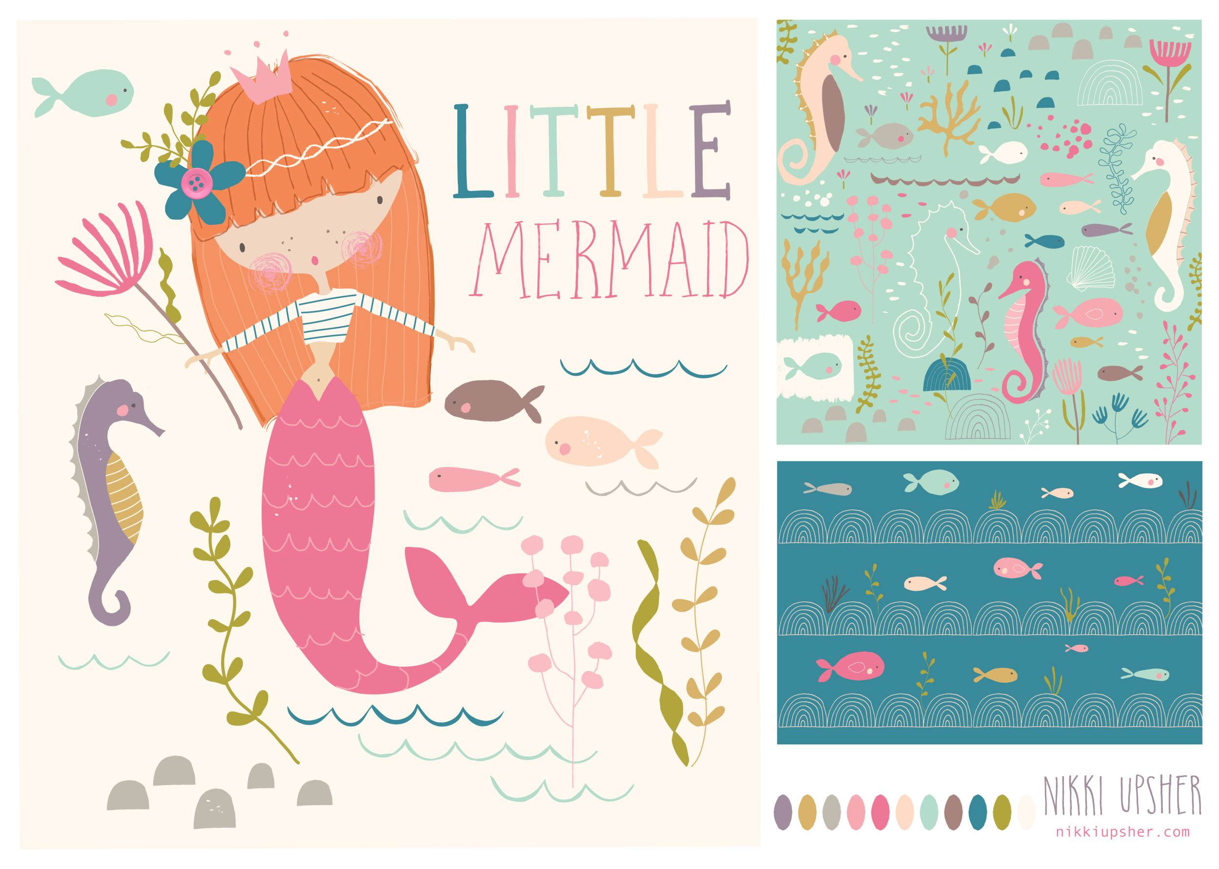 mermaid placement and patterns