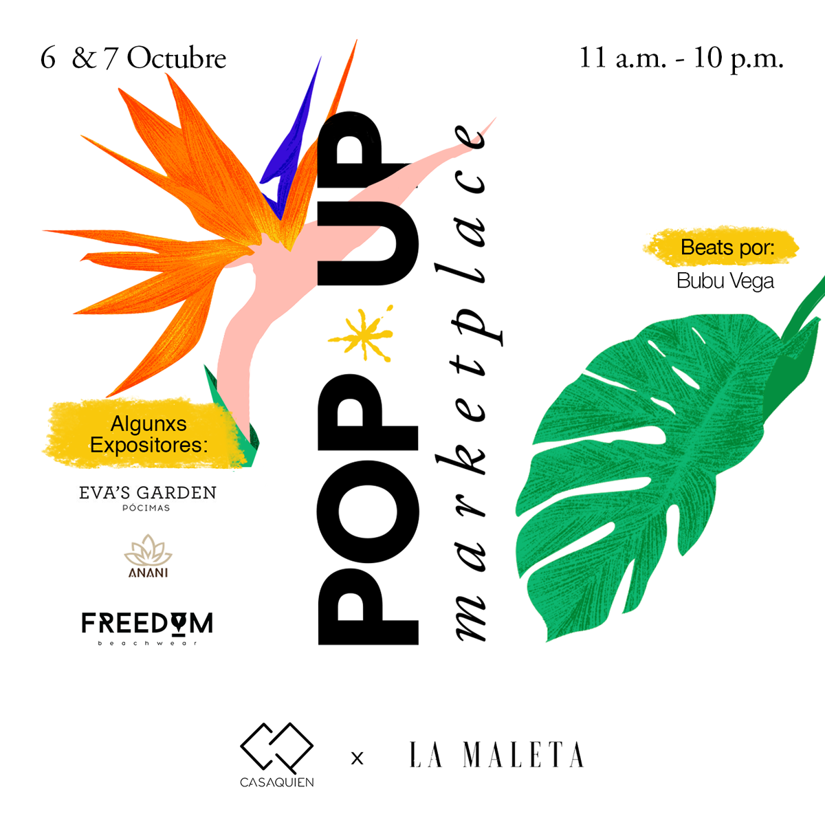Social media content and logo design for my friends at Casa Quien and their Pop-up marketplace.