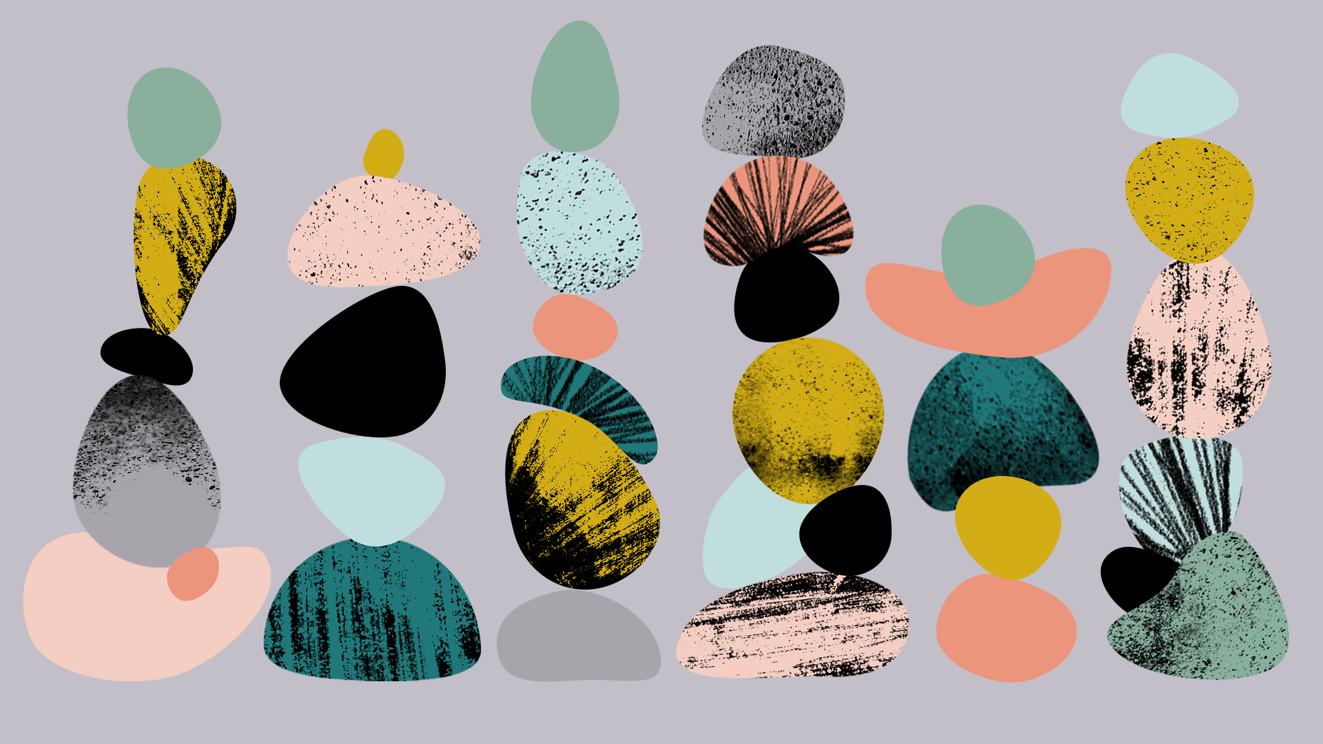 Stacked rocks. Styleframe. Personal project begging me to come back.