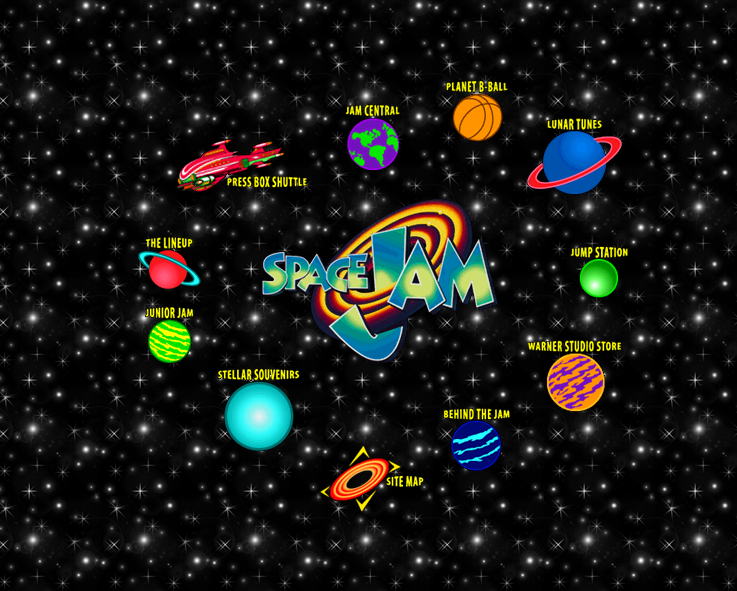 The original website for the movie Space Jam (I realize, this reference dates me) still exists. Click through the check it out.