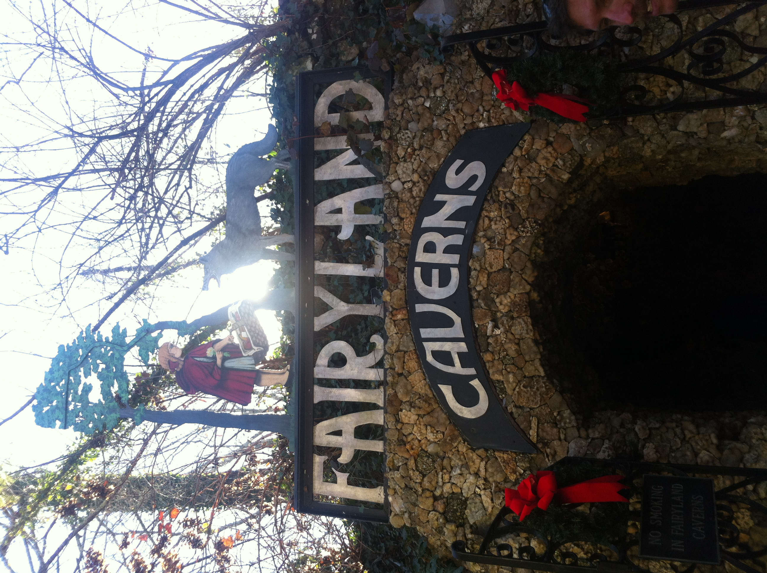 Fairyland Caverns at Rock City, a stop on our epic holiday road trip.