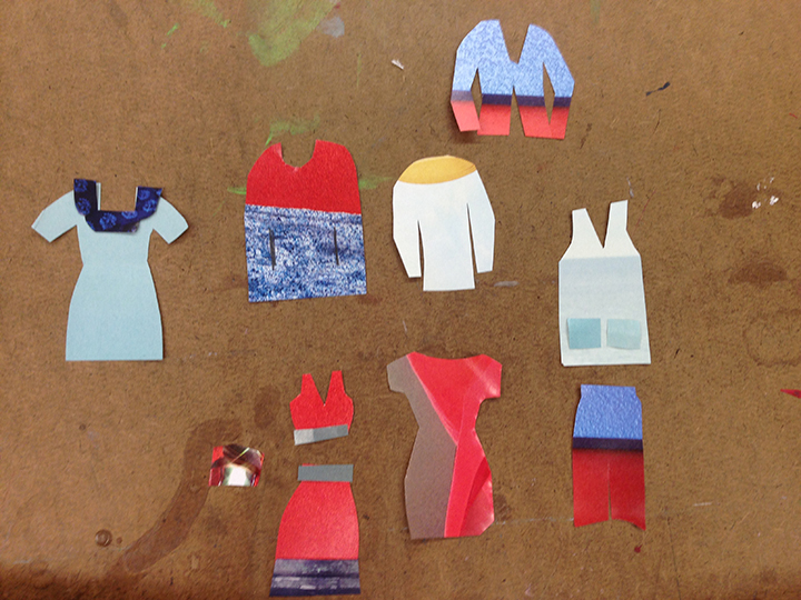 A mini collage capsule collection I created as students in my class worked on their own.