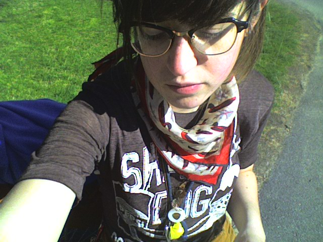 Some pre-'selfie' selfies from my college days with my first phone camera