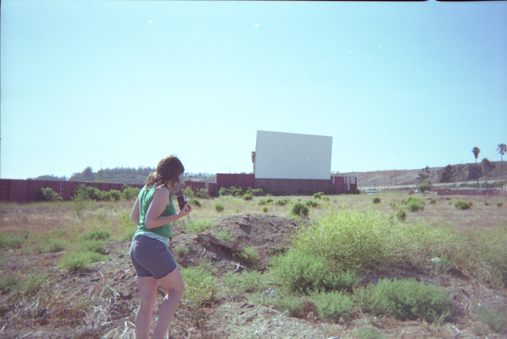 This old drive in theater is somewhere on the coast between San Fransisco and Santa Barbara, though I can't remember where.