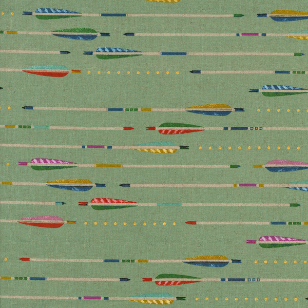 This Cotton + Steel cotton linen canvas from  Grey's Fabrics  is another great choice for playing with directional print.