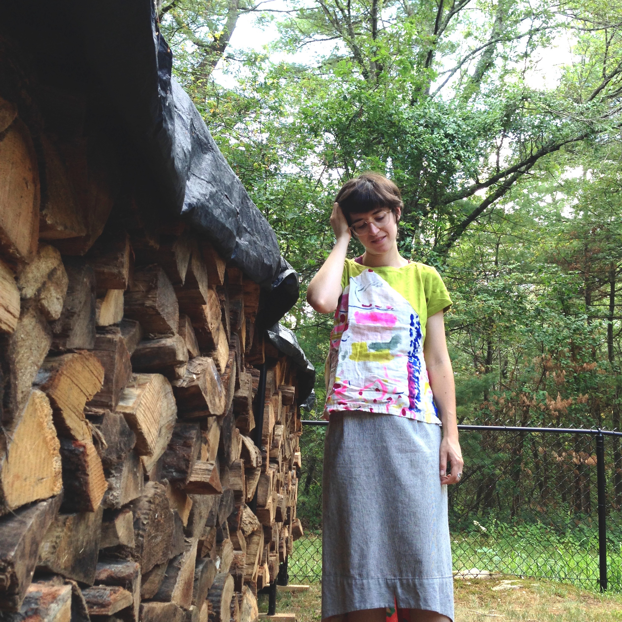 We got a cord of firewood yesterday and I like taking pictures with it! Looking forward to a super toasty winter ;)