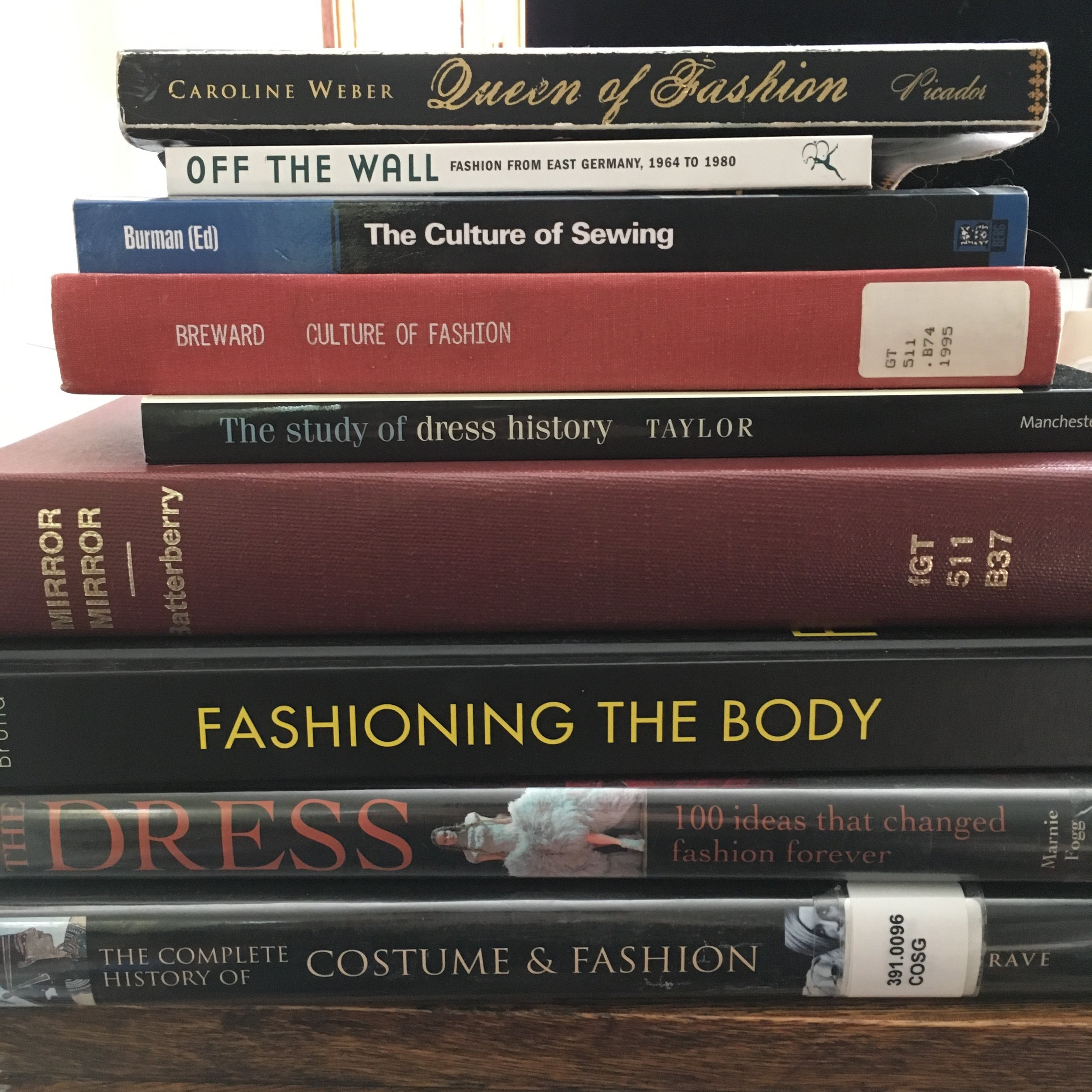 A selection of the reading I've been doing to prep