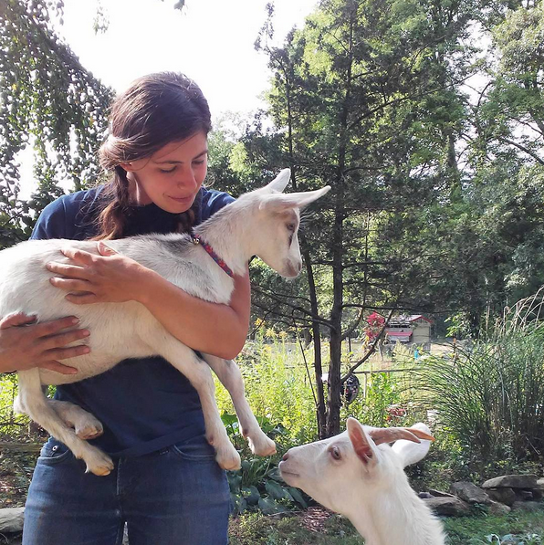Olive & Chuck are the two adorable goats that live on Katy's farm. They're super mischevious. You can follow their hi-jinks on Katy's instagram (or search the hashtag #ChuckandOlive).