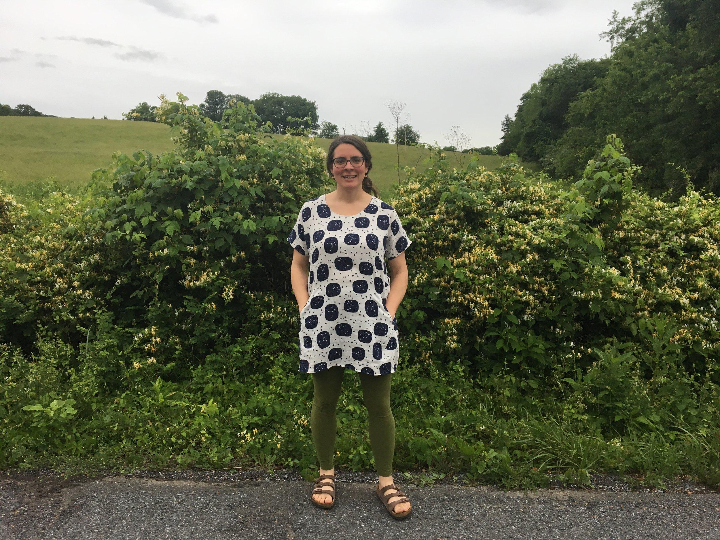 Accacia (owner of  Make It Sew  in Lexington, VA) in Cabin V2