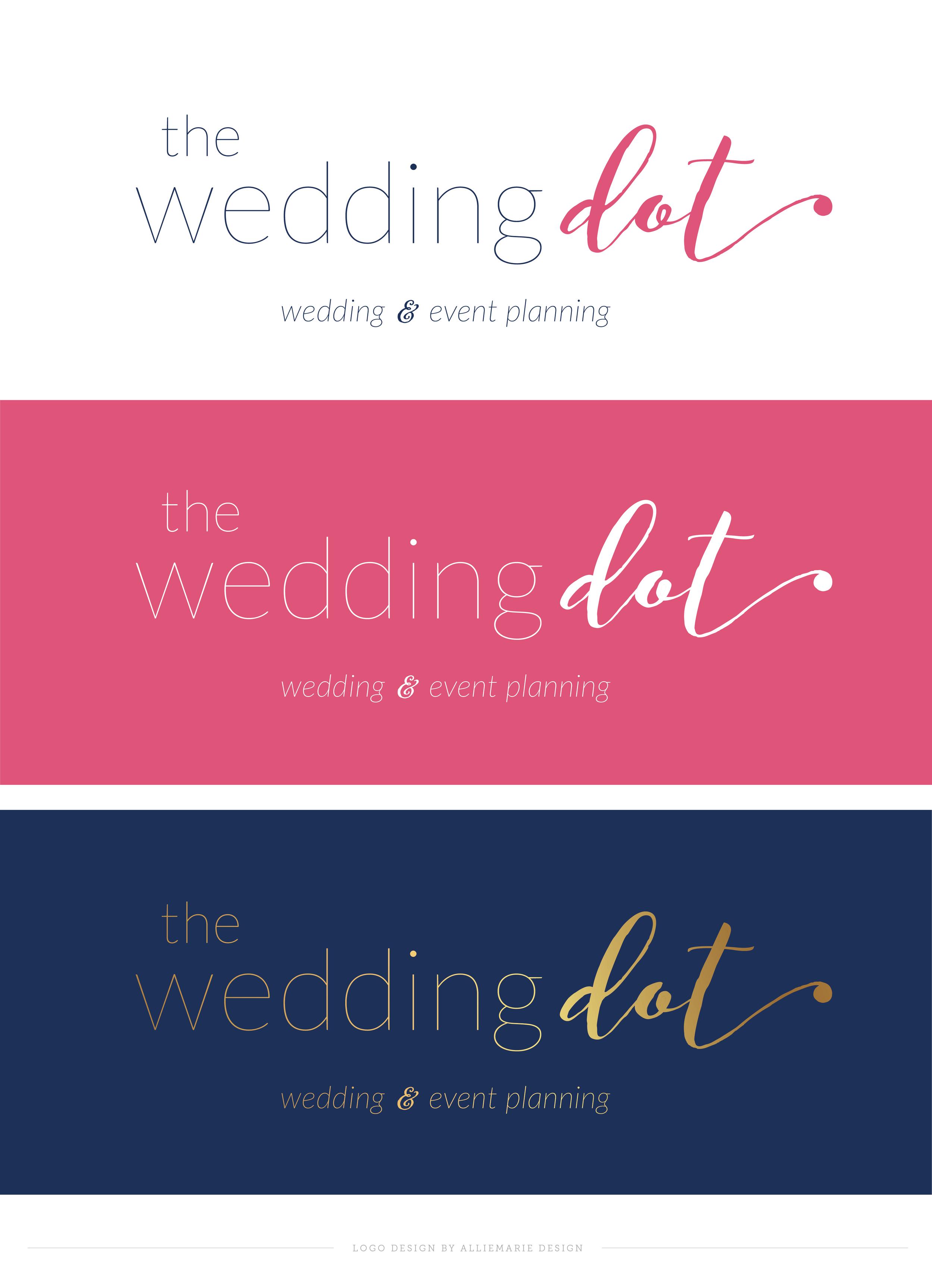 The Wedding Dot, Logo Design by AllieMarie Design