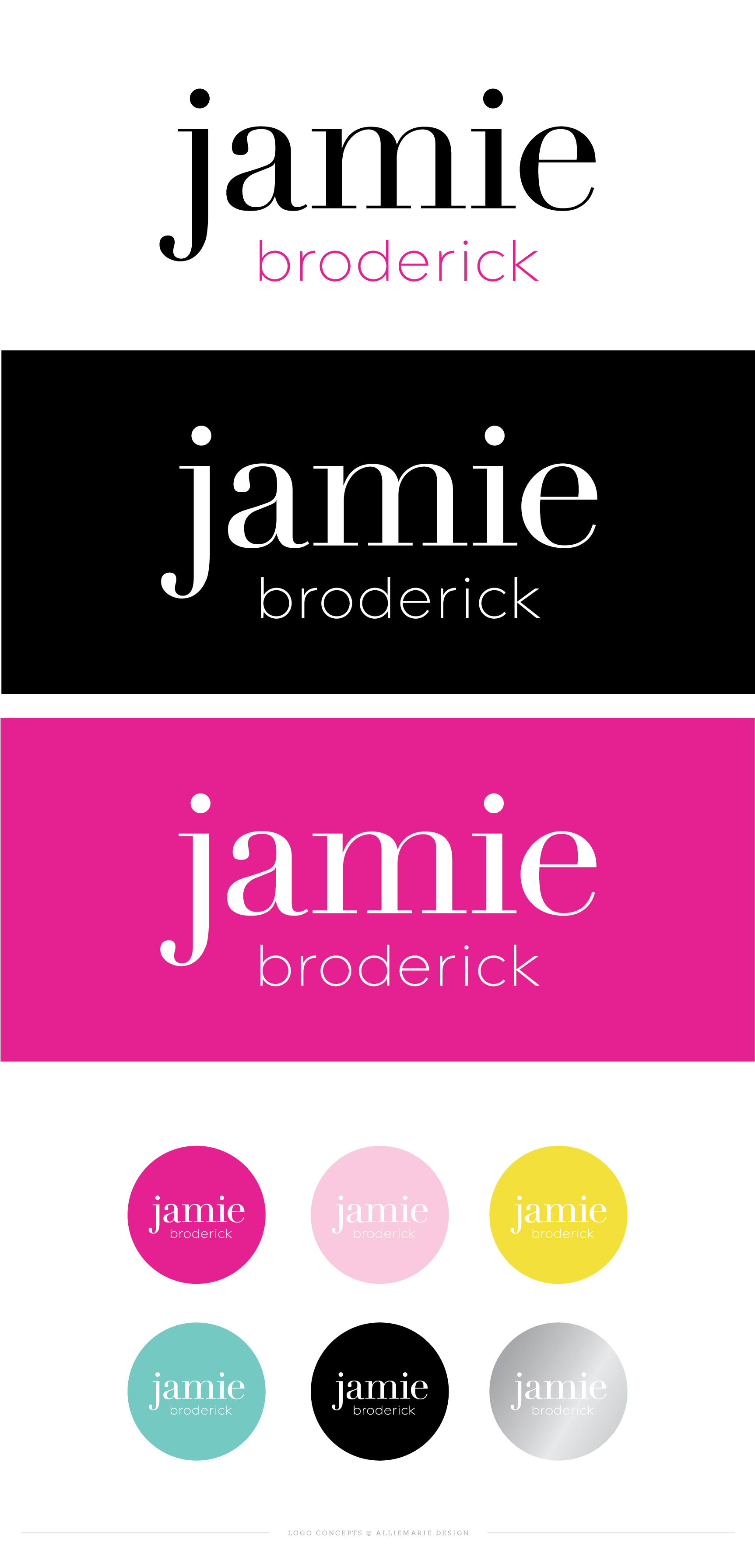 Jamie Broderick Logos  |  Logo Design and Brand Styling by AllieMarie Design