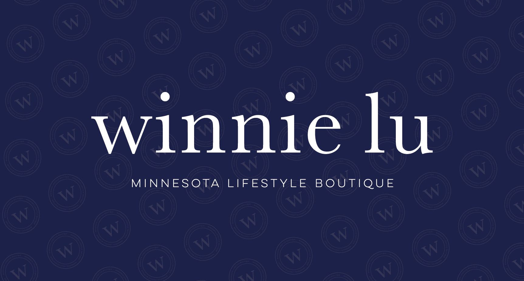 Winnie Lu Minnesota Lifestyle Boutique located in Victoria, MN  |  Logo and Visual Branding Design by AllieMarie Design