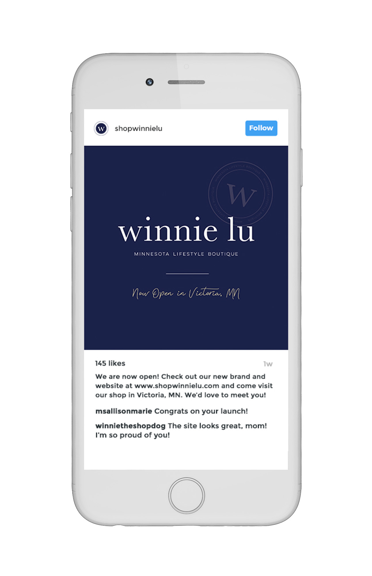 Winnie Lu Instagram Imagery for Brand Launch  |  Designed by AllieMarie Design