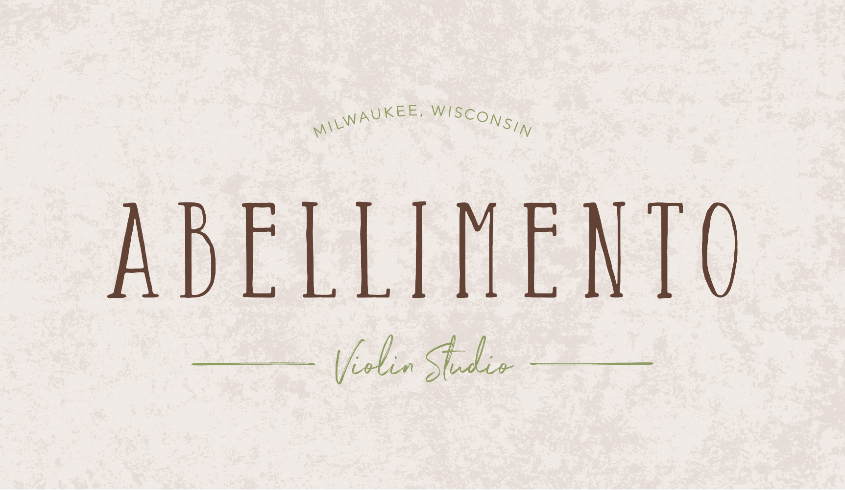 Abellimento Violin Studio Logo and Visual Branding by AllieMarie Design