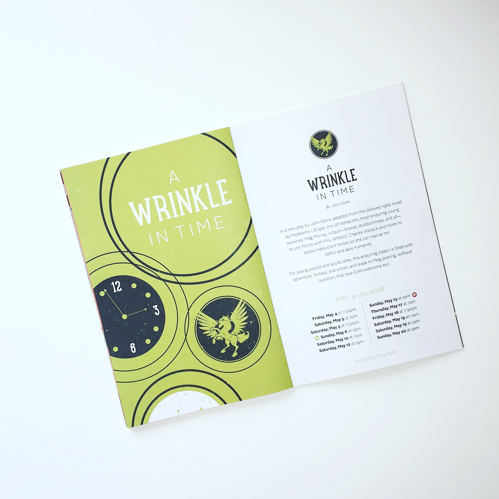 Lyric Arts Season Brochure Layout and Design by AllieMarie Design