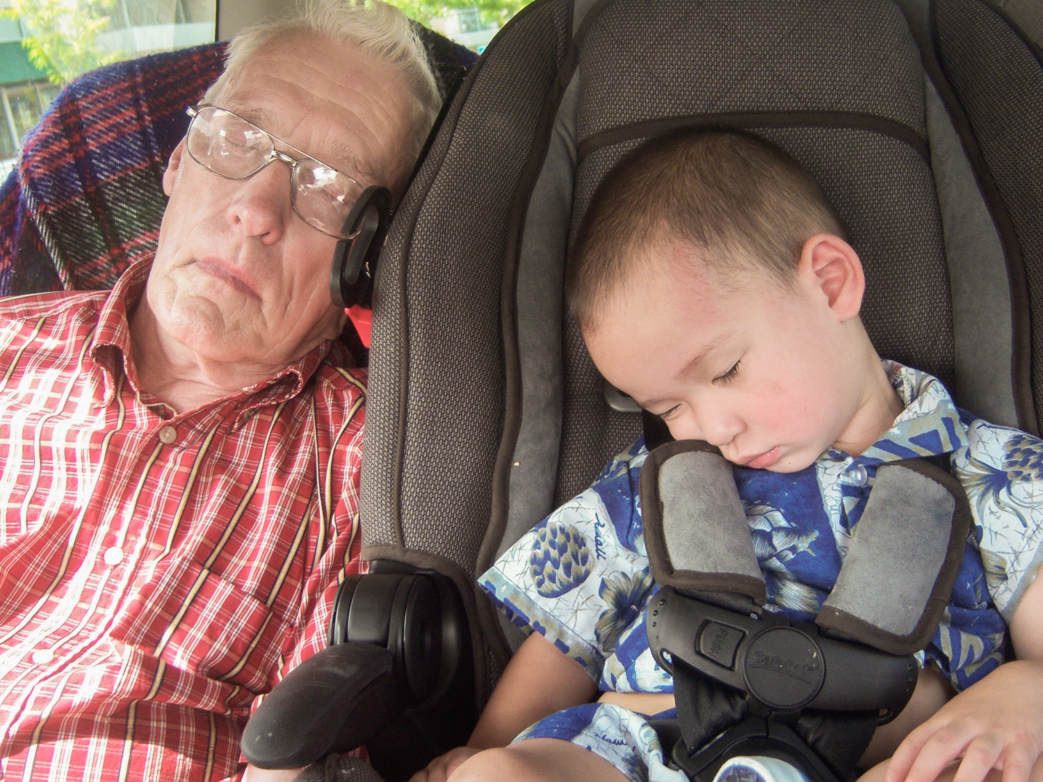 My father Colonel Jack C. Gentry, USAF, ret., and my grandson James.  Photo circa 2008