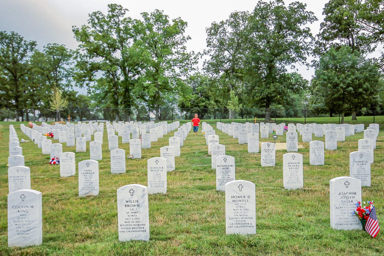 Jefferson Barracks National Cemetery, St Louis, Missouri Photo circa 2013
