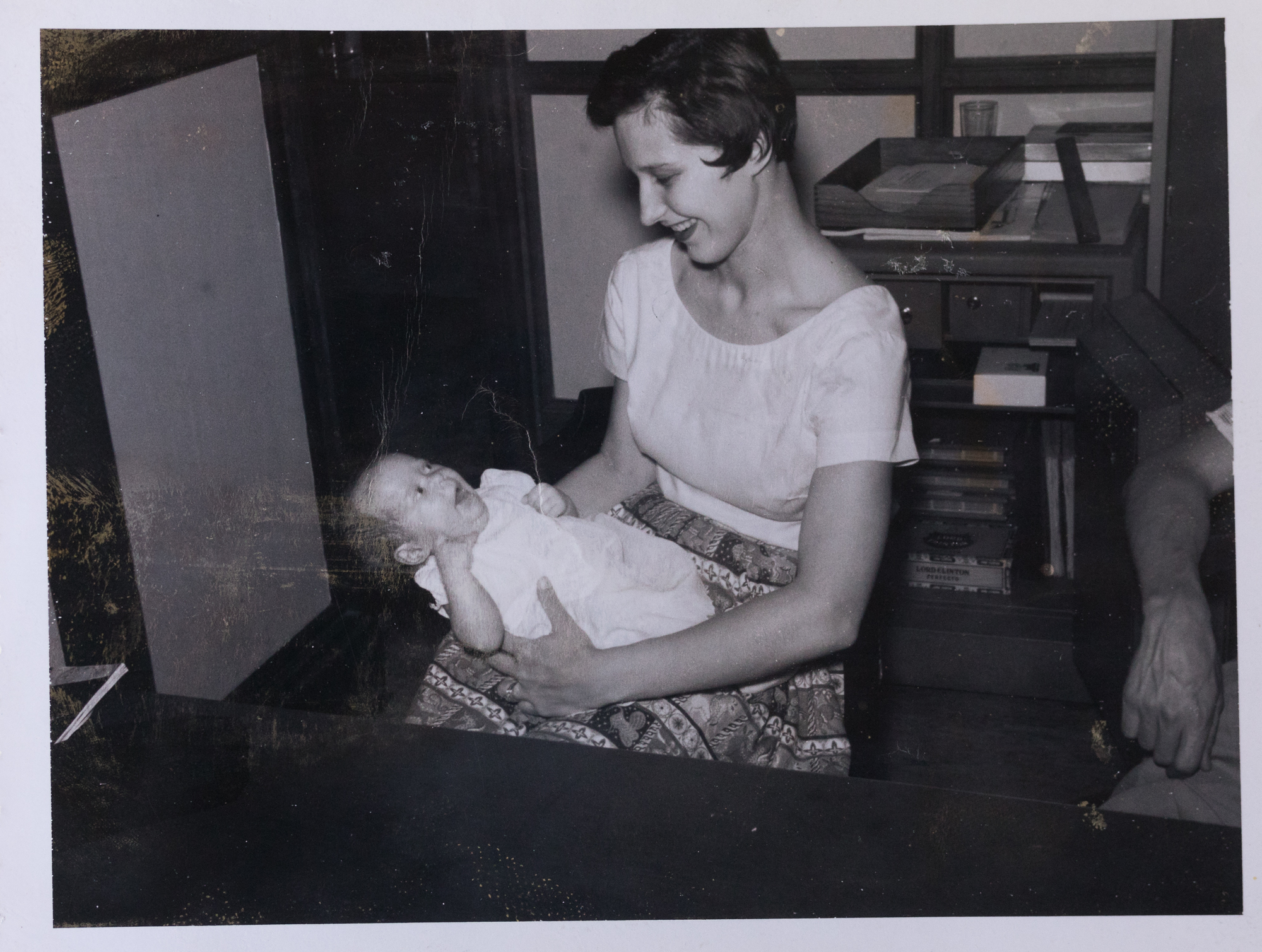 My mother, Miriam Gentry, with me in 1958.