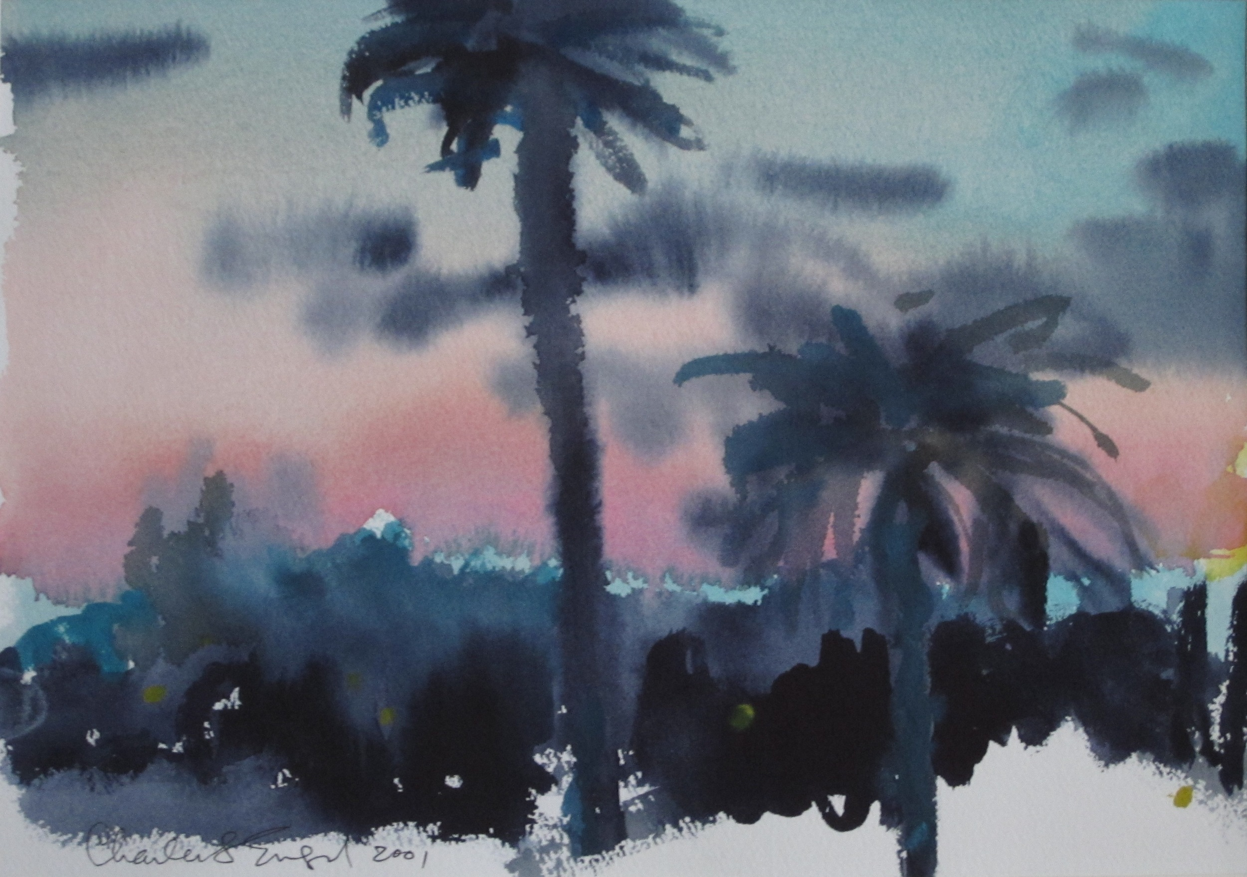 """Montero Road Sunset""  Watercolor 11X15"