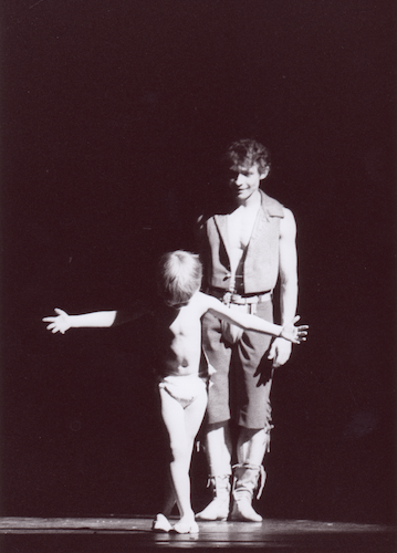 "Daniil Simkin performing in ""Till Eulenspiegel"" with his father, Dmitrij Simkin in Wiesbaden, Germany"