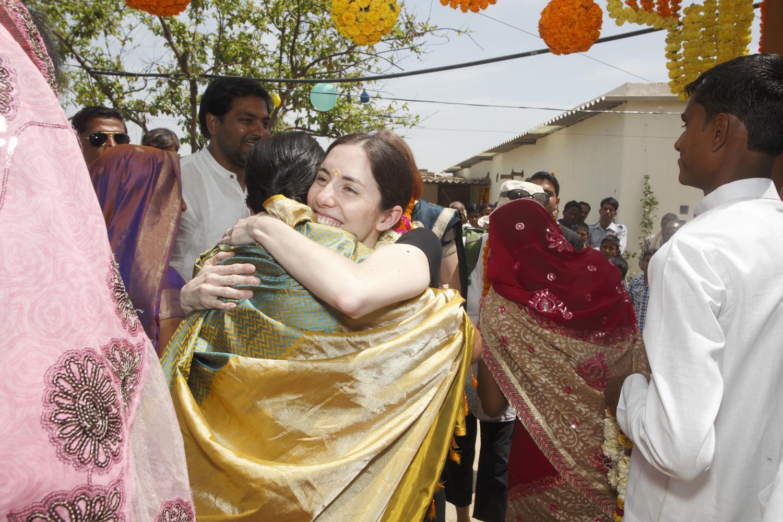 Rebecca van Bergen in Varanasi, courtesy of Neil Davenpor