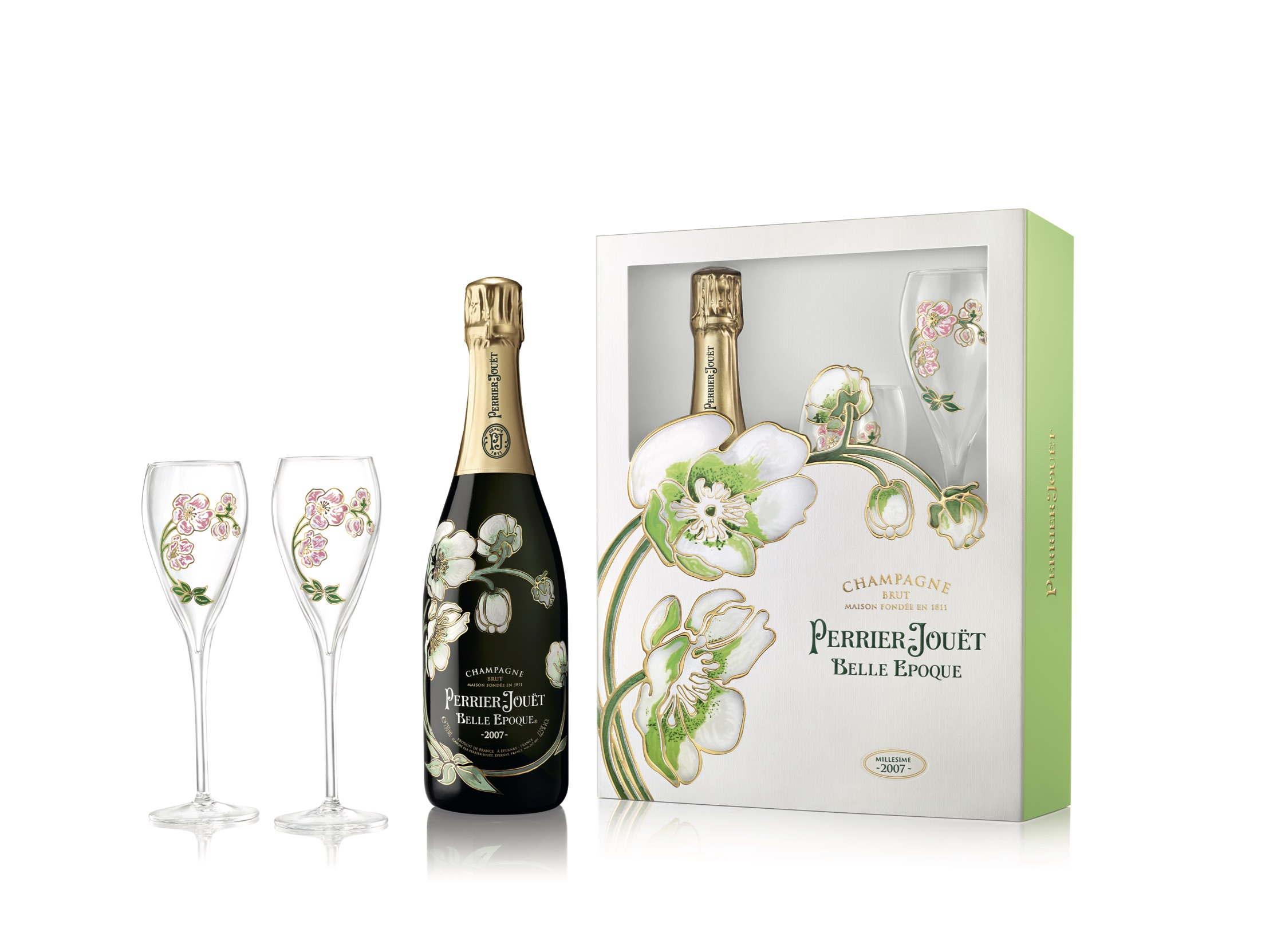 Perrier-Jouët Belle Epoque Gift Set With Flutes