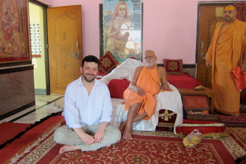 I went to India for the BBC to make a radio documentary on the links between numbers and Indian spirituality. Here's me with the Shankaracharya of Puri.