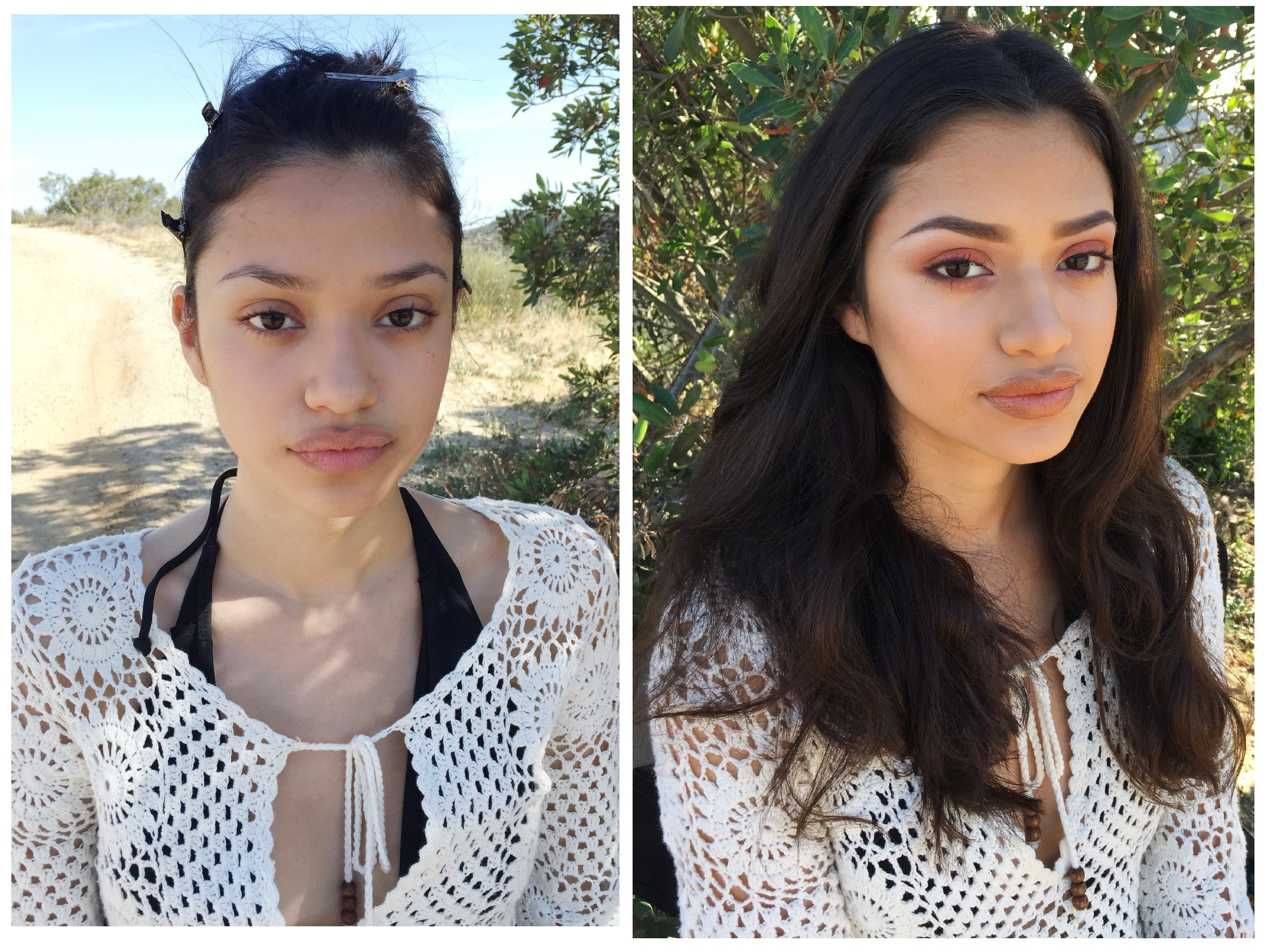 Makeup for Tara Scoville on model Vanessa with TWO Mgmt
