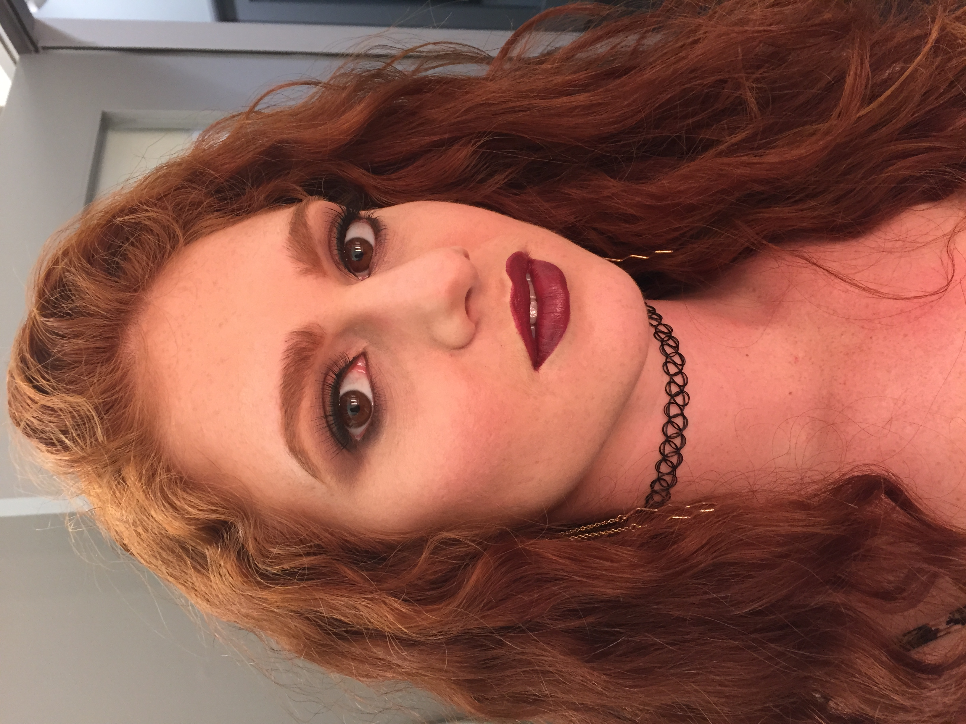 Makeup look on Marli for my audition with Glam Squad