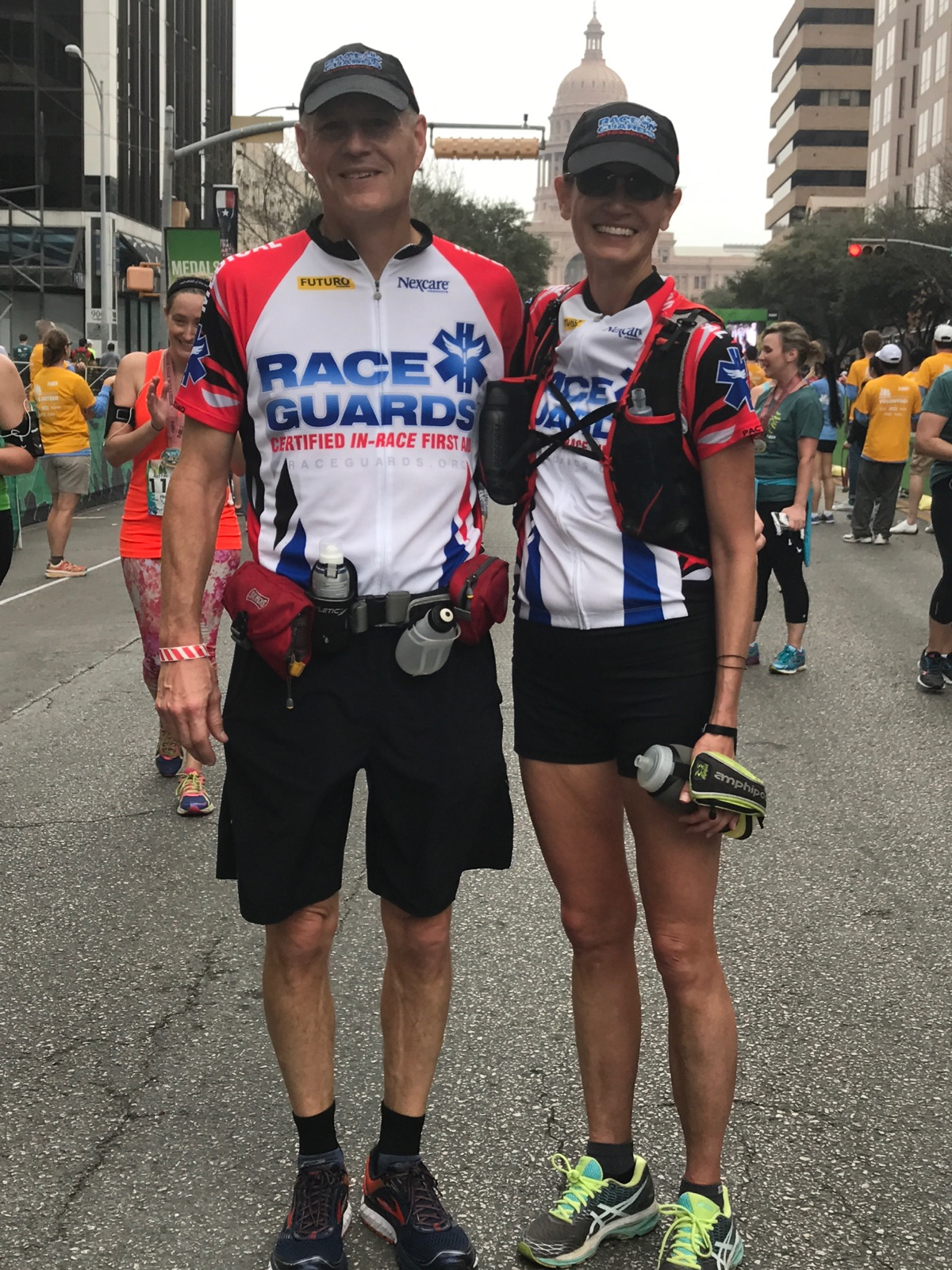 Rob and Dr Laura at the Austin Marathon in February